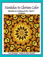 Mandalas in Glorious Color Book 9
