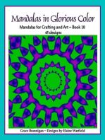 Mandalas in Glorious Color Book 10