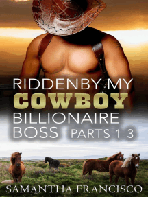 Ridden By My Cowboy Billionaire Boss, Parts 1-3 (Gay BDSM Love Stories, #3)