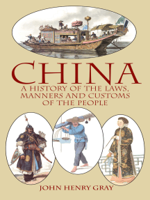 China: A History of the Laws, Manners and Customs of the People