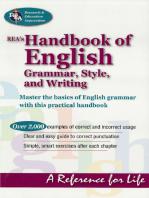REA's Handbook of English Grammar, Style, and Writing