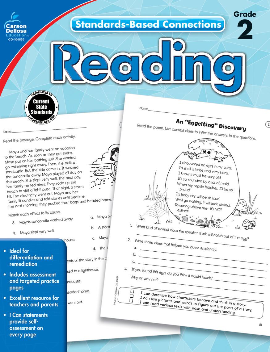 Read Reading, Grade 2 Online by Carson-Dellosa Publishing ...