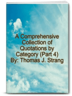 A Comprehensive Collection of Quotations by Category (Part 4)