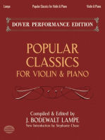 Popular Classics for Violin and Piano