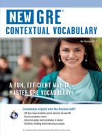 GRE Contextual Vocabulary