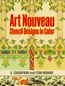 Art Nouveau Stencil Designs in Color