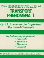 Transport Phenomena I Essentials