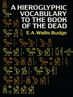 Hieroglyphic Vocabulary to the Book of the Dead