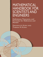 Mathematical Handbook for Scientists and Engineers