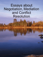Essays About Negotiation, Mediation and Conflict Resolution