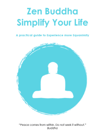 Zen Buddha: Simplify Your Life
