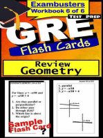 GRE Test Prep Geometry Review--Exambusters Flash Cards--Workbook 6 of 6: GRE Exam Study Guide
