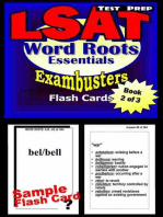 LSAT Test Prep Essential Word Roots--Exambusters Flash Cards--Workbook 2 of 3