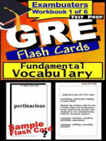 GRE Test Prep Essential Vocabulary 1 Review--Exambusters Flash Cards--Workbook 1 of 6: GRE Exam Study Guide