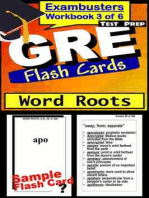 GRE Test Prep Word Roots Review--Exambusters Flash Cards--Workbook 3 of 6: GRE Exam Study Guide