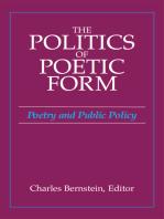 The Politics of Poetic Form
