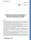 Financial Case Study on Distribution of Common Financial Ratios