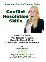 Conflict Resolution Skills (Customer Service Training Series, #3)