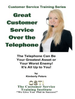 Great Customer Service Over the Telephone (Customer Service Training Series, #4)