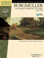 Johann Friedrich Burgmüller - 18 Characteristic Studies, Opus 109