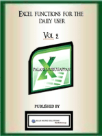 Excel Functions for the Daily User - Vol 2