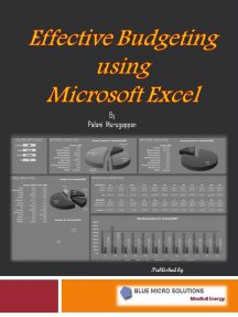 effective budgeting using microsoft excel by palani murugappan by