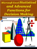 Microsoft Excel Statistical and Advanced Functions for Decision Making