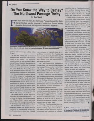 the northwest passage essay The possibility of using the passage for shipping touched off a dispute between  the united states and canada, with the former claiming that the passage was an .