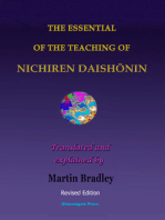 The Essential of the Teaching of Nichiren Daishōnin