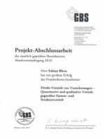 Projektarbeit Staatlich geprüfter Betriebswirt BWL