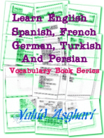 Learn English, Spanish, French, German, Turkish and Persian: Vocabulary Book Series