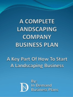 A Complete Landscaping Company Business Plan