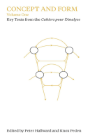 Concept and Form, Volume 1: Selections from the Cahiers pour l'Analyse