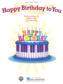 Happy Birthday to You: Piano/Vocal/Guitar