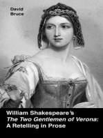 """William Shakespeare's """"The Two Gentlemen of Verona"""""""