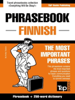 English-Finnish phrasebook and 250-word mini dictionary