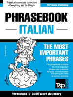 English-Italian phrasebook and 3000-word topical vocabulary