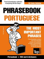 English-Portuguese phrasebook and 250-word mini dictionary