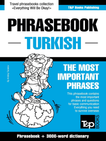 Phrasebook Turkish: The Most Important Phrases - Phrasebook + 3000-Word Dictionary