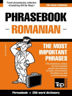 English-Romanian phrasebook and 250-word mini dictionary