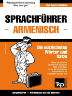 Sprachführer Deutsch-Armenisch und Mini-Wörterbuch mit 250 Wörtern