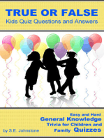 True or False Kids Quiz Questions and Answers