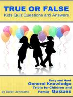 True or False Pub Quiz Questions and Answers