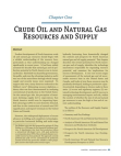 Study on Crude Oil and Natural Gas Resources and Supply