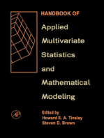 Handbook of Applied Multivariate Statistics and Mathematical Modeling