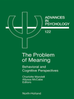 Problem of Meaning Behavioural and Cognitive Perspectives