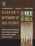 Elsevier's Dictionary of Soil Science: Definitions in English with French, German, and Spanish word translations