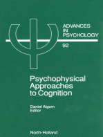 Psychophysical Approaches to Cognition
