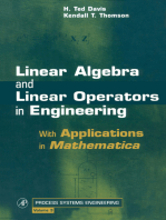 Linear Algebra and Linear Operators in Engineering: With Applications in Mathematica®