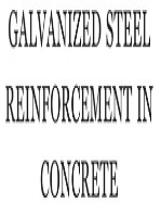 Galvanized Steel Reinforcement in Concrete